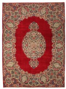 Kerman Patina Alfombra 277X374 Oriental Hecha A Mano Rojo Oscuro/Marrón Claro Grande (Lana, Persia/Irán)