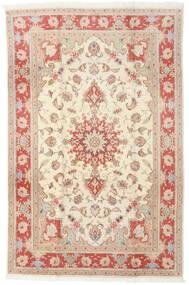 Tabriz 50 Raj Alfombra 190X293 Oriental Hecha A Mano Amarillo/Marrón Claro (Lana/Seda, Persia/Irán)