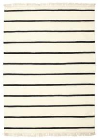 Dorri Stripe - Blanco/Negro Alfombra 160X230 Moderna Tejida A Mano Beige/Blanco/Crema (Lana, India)