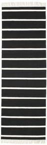 Dorri Stripe - Negro/Blanco Alfombra 80X250 Moderna Tejida A Mano Negro/Blanco/Crema (Lana, India)