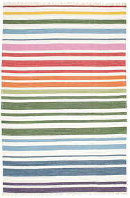 Rainbow Stripe - Blanco Alfombra 200X300 Moderna Tejida A Mano Blanco/Crema (Algodón, India)