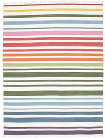 Rainbow Stripe - Blanco Alfombra 200X250 Moderna Tejida A Mano Beige/Blanco/Crema (Algodón, India)