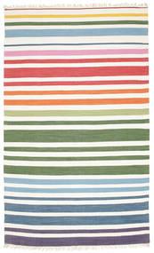 Rainbow Stripe - Blanco Alfombra 180X280 Moderna Tejida A Mano Beige/Blanco/Crema (Algodón, India)