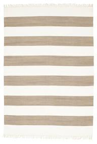 Cotton Stripe - Marrón Alfombra 160X230 Moderna Tejida A Mano Gris Claro/Blanco/Crema (Algodón, India)