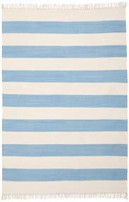 Cotton Stripe - Claro Azul Alfombra 160X230 Moderna Tejida A Mano Azul Claro/Beige (Algodón, India)