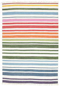 Rainbow Stripe - Blanco Alfombra 160X230 Moderna Tejida A Mano Blanco/Crema (Algodón, India)