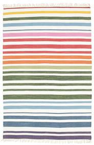 Rainbow Stripe - Blanco Alfombra 140X200 Moderna Tejida A Mano Blanco/Crema/Beige (Algodón, India)