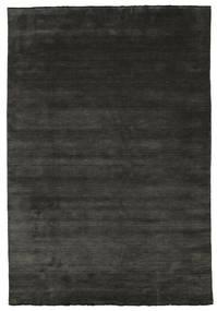 Handloom Fringes - Negro/Gris Alfombra 220X320 Moderna Negro/Gris Oscuro (Lana, India)