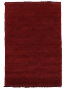 Handloom Fringes - Rojo Oscuro Alfombra 200X300 Moderna Roja (Lana, India)