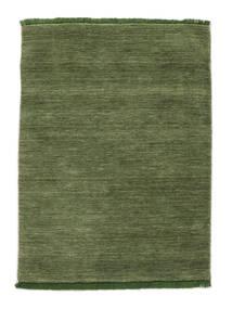 Handloom Fringes - Verde Alfombra 140X200 Moderna Verde Oliva/Verde Oscuro (Lana, India)