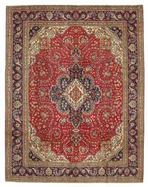 Tabriz Patina Alfombra 300X384 Oriental Hecha A Mano Marrón Oscuro/Óxido/Roja Grande (Lana, Persia/Irán)
