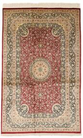 Ghom De Seda Firmada: Razavi Alfombra 125X203 Oriental Hecha A Mano Beige Oscuro/Rojo Oscuro (Seda, Persia/Irán)
