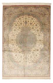 Ghom De Seda Firmada: Ghom Mosavi Alfombra 128X200 Oriental Hecha A Mano Beige Oscuro/Beige (Seda, Persia/Irán)