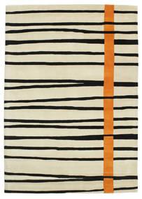 Gummi Twist Handtufted - Naranja Alfombra 160X230 Moderna Beige Oscuro/Beige/Negro (Lana, India)