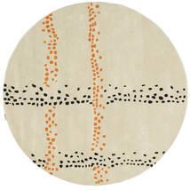 Delight Handtufted - Naranja Alfombra Ø 200 Moderna Redonda Beige Oscuro (Lana, India)