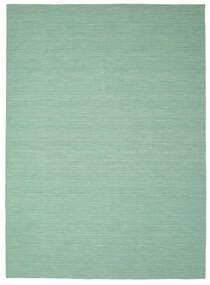 Kilim Loom - Mint Verde Alfombra 250X350 Moderna Tejida A Mano Verde Pastel/Azul Turquesa Grande (Lana, India)