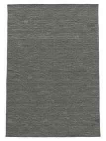 Kilim Loom - Gris Oscuro Alfombra 140X200 Moderna Tejida A Mano Verde Oscuro/Gris Claro (Lana, India)