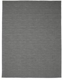Kilim Loom - Gris Oscuro Alfombra 300X400 Moderna Tejida A Mano Verde Oscuro/Gris Claro Grande (Lana, India)