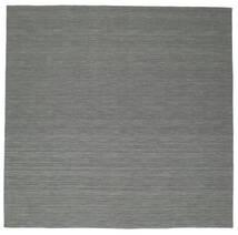 Kilim Loom - Gris Oscuro Alfombra 300X300 Moderna Tejida A Mano Cuadrada Verde Oscuro/Gris Claro Grande (Lana, India)