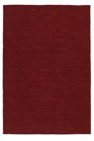 Kilim Loom - Rojo Oscuro Alfombra 300X400 Moderna Tejida A Mano Roja Grande (Lana, India)
