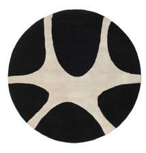 Stones Handtufted - Negro Alfombra Ø 150 Moderna Redonda Negro/Gris Claro (Lana, India)