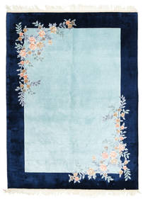 China Art De Seda 120 Line Alfombra 170X230 Oriental Hecha A Mano Azul Oscuro/Azul Claro/Azul Turquesa ( China)