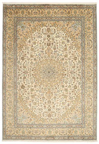Cachemira Pura De Seda Alfombra 217X315 Oriental Hecha A Mano Beige Oscuro/Marrón Claro (Seda, India)