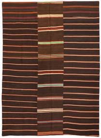 Kilim Patchwork Alfombra 175X241 Moderna Tejida A Mano Marrón Oscuro/Rojo Oscuro (Lana, Turquía)