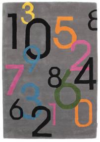 Lucky Numbers - Gris Alfombra 120X180 Moderna Marrón Oscuro/Negro (Lana, India)