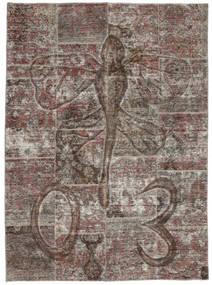 Patchwork Alfombra 174X240 Moderna Hecha A Mano Gris Oscuro/Gris Claro (Lana, Persia/Irán)