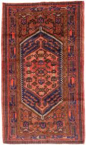 Hamadan Alfombra 143X247 Oriental Hecha A Mano Rojo Oscuro/Roja (Lana, Persia/Irán)