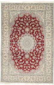 Nain 9La Alfombra 202X310 Oriental Hecha A Mano Gris Claro/Beige (Lana/Seda, Persia/Irán)