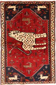 Gashgai Alfombra 134X211 Oriental Hecha A Mano Rojo Oscuro/Óxido/Roja (Lana, Persia/Irán)