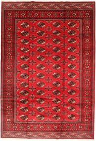 Turkaman Alfombra 201X293 Oriental Hecha A Mano Óxido/Roja/Rojo Oscuro/Roja (Lana, Persia/Irán)