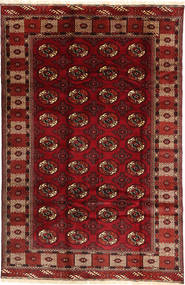 Turkaman Alfombra 187X290 Oriental Hecha A Mano Rojo Oscuro/Marrón Oscuro (Lana, Persia/Irán)