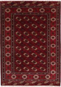 Turkaman Alfombra 208X287 Oriental Hecha A Mano Rojo Oscuro/Marrón Oscuro (Lana, Persia/Irán)