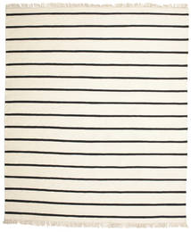 Dorri Stripe - Blanco/Negro Alfombra 250X300 Moderna Tejida A Mano Beige/Blanco/Crema Grande (Lana, India)