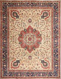 Tabriz Patina Alfombra 305X390 Oriental Hecha A Mano Marrón Claro/Beige Grande (Lana, Persia/Irán)