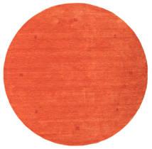 Loribaf Loom Alfombra Ø 202 Moderna Hecha A Mano Redonda Naranja/Roja (Lana, India)