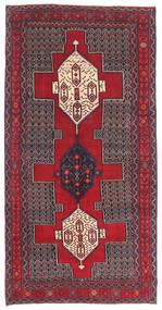 Senneh Patina Alfombra 145X299 Oriental Hecha A Mano Marrón Oscuro/Roja (Lana, Persia/Irán)