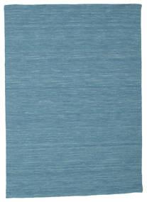 Kilim Loom - Azul Alfombra 140X200 Moderna Tejida A Mano Azul Turquesa/Azul (Lana, India)