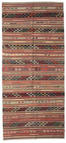 Kilim Semiantigua Turquía Alfombra 163X364 Oriental Tejida A Mano Rojo Oscuro/Gris Oscuro (Lana, Turquía)