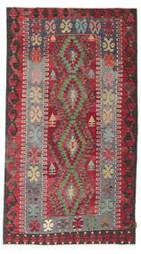 Kilim Semiantigua Turquía Alfombra 155X279 Oriental Tejida A Mano Marrón Oscuro/Roja (Lana, Turquía)