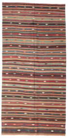Kilim Semiantigua Turquía Alfombra 180X373 Oriental Tejida A Mano Negro (Lana, Turquía)