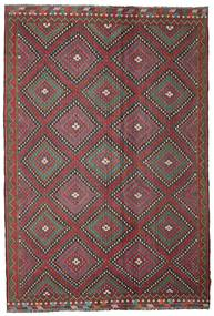 Kilim Semiantigua Turquía Alfombra 206X307 Oriental Tejida A Mano Rojo Oscuro/Gris Oscuro (Lana, Turquía)