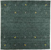 Gabbeh Loom Two Lines - Gris Oscuro/Verde Alfombra 200X200 Moderna Cuadrada Verde Oscuro/Turquesa Oscuro (Lana, India)