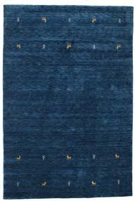 Gabbeh Loom Two Lines - Azul Oscuro Alfombra 160X230 Moderna Azul Oscuro (Lana, India)