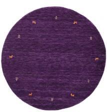 Gabbeh Loom Two Lines - Violeta Alfombra Ø 150 Moderna Redonda Púrpura Oscuro (Lana, India)