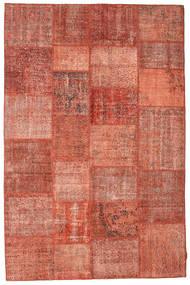 Patchwork Alfombra 198X302 Moderna Hecha A Mano Roja/Rojo Oscuro (Lana, Turquía)
