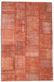 Patchwork Alfombra 198X302 Moderna Hecha A Mano Roja/Rosa Claro/Rojo Oscuro (Lana, Turquía)